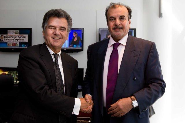 Alain de Pouzilhac, PDG de l'AEF et Mubarak bin Jaham al-Kuwari, Président Exécutif de QMC