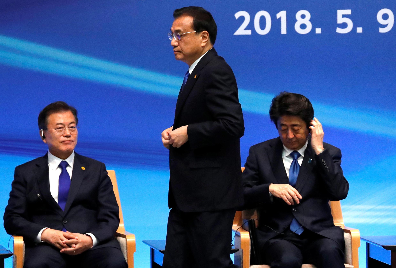 日中總理與韓國總統在東京出席三國商務峰會 2018年5月9日