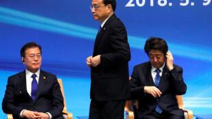日中总理与韩国总统在东京出席三国商务峰会 2018年5月9日