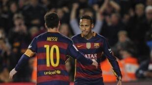 Neymar em jogo do Barcelona.