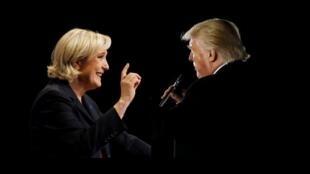 Marine Le Pen e Donald Trump, que nunca se encontraram, têm a mesma ambição presidencial, mas muita coisa os separa.