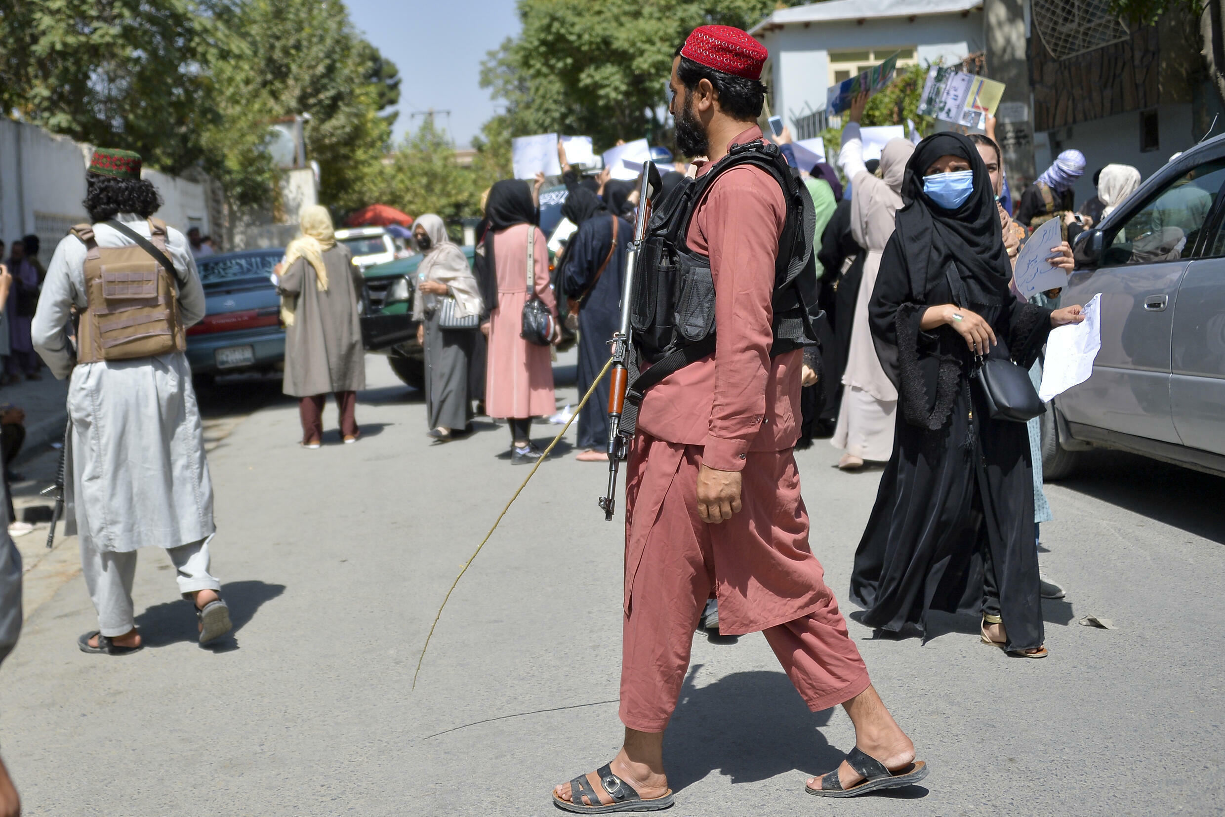 As the Taliban transition from militant force to governing power, they face a growing number of protests against their rule