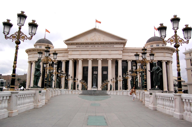 Skopje, mji mkuu wa Makedonia Kaskazini.