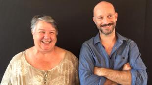 Madeleine Louarn et Jean-François Auguste, metteurs en scène du « Grand Théâtre d'Oklahoma », création au Festival d'Avignon 2018.