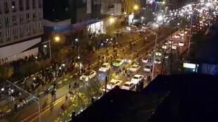 Une image de Téhéran, ce 1er janvier 2018.