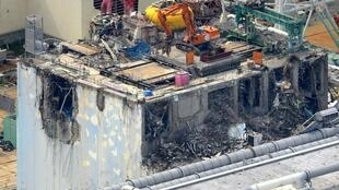 Tokyo Electric Power Co.'s tsunami-crippled Daiichi nuclear power plant's reactor building number 4, Fukushima, 5 July, 2012