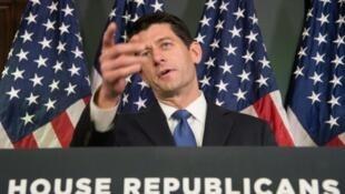Paul Ryan, Mwenyekiti wa Baraza la Wawakilishi kutoka chama cha Republican, Novemba 3, Washington.