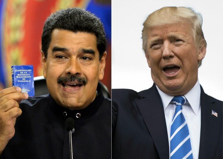 """دونالد ترامپ رئیس جمهوری آمریکا، ونزوئلا را به در نظر گرفتن یک """"گزینه نظامی""""، تهدید کرد."""