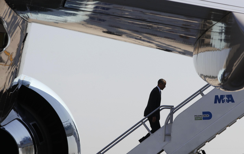 Barack Obama est le premier président américain à visiter Porto Rico depuis John F. Kennedy en 1961.