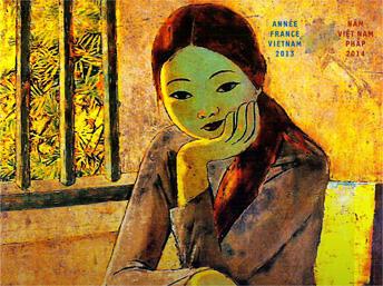 Áp-phích Hội thảo Pháp - Việt về nghệ thuật Việt Nam