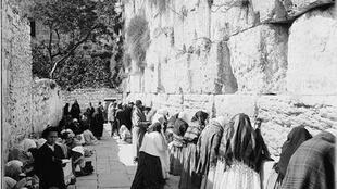 Le Mur des lamentations entre 1898-1914.