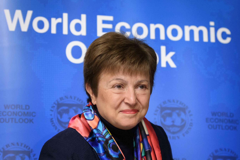 La jefa del FMI, Kristalina Georgieva, asiste a un acto del Foro Economómico Mundial el 20 de enero de 2020 en Davos (Suiza)
