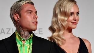 El rapero italiano Fedez está casado con la bloguera Chiara Ferragni