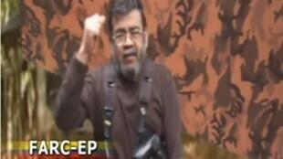Captura de pantalla del video difundido por las FARC.