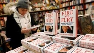 "Copies of the book ""Fire and Fury: Inside the Trump White House"" by author Michael Wolff are seen at the Book Culture book store in New York, U.S. January 5, 2018."