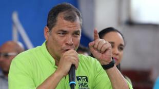 El ex presidente de Ecuador, Rafael Correa, el 29 de noviembre de 2017 en Quito.