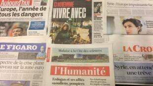 Primeiras páginas dos jornais franceses de 15 de fevereiro de 20165