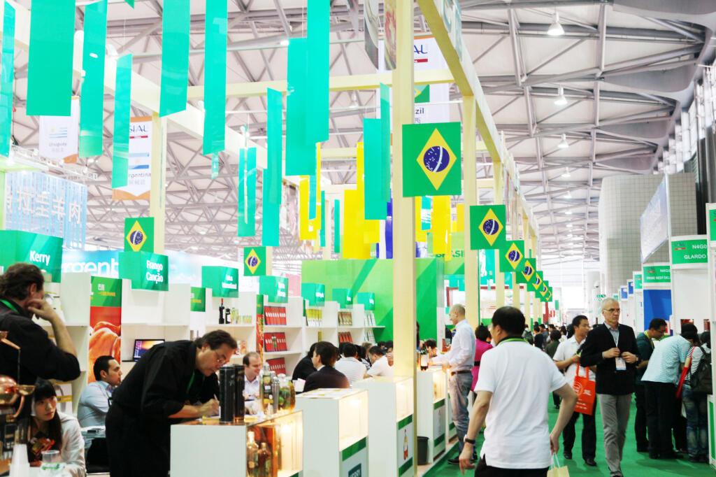 Estande brasileiro na SIAL China, em Xangai, nesta quarta-feira, 8 de maio de 2013.