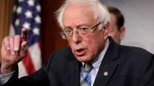 Bernie Sanders, 77 ans, est l'un des favoris parmi la dizaine de candidats qui se sont déjà lancés dans la course démocrate. Ici, à Capitol Hill à Washinton, le 30 janvier 2019.