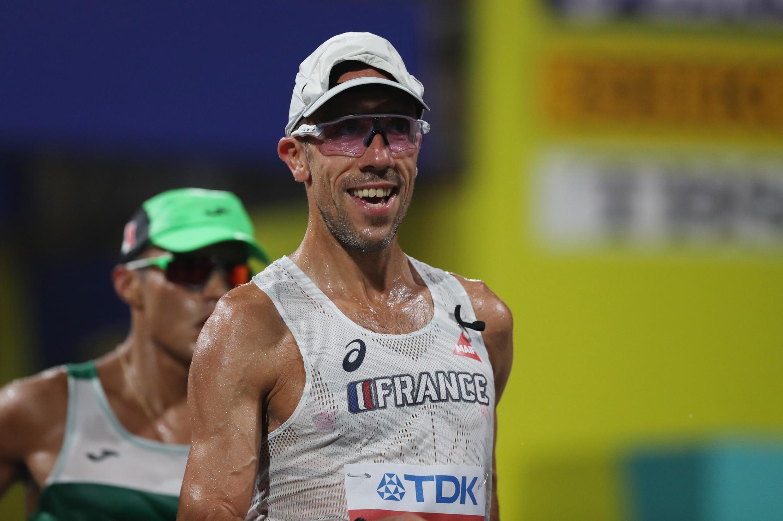 Campeonato do Mundo de Atletismo - Doha 2019 - Corrida masculina de 50 km - Doha, Qatar - 29 de setembro de 2019 Yohann Diniz, da França
