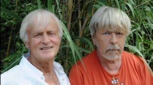 Portrait des chanteurs Dave et Renaud.