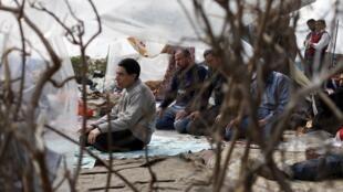Un moment de calme sur la place Tahrir, le 7 février.