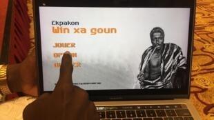 Messager, un des lauréats du hackathon de 24h consacré à la création d'un jeu vidéo. Il permet d'apprendre l'histoire du Bénin.