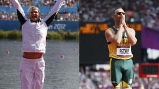 La kayakiste Bridgitte Hartley et le sprinteur Oscar Pistorius.