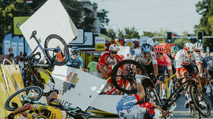 Fabio Jakobsen was hurt in a horrific crash on the opening stage of the Tour of Poland