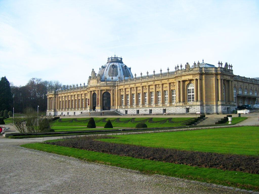 Façade de l' AfricaMuseum, l'ex-Musée Royal de l'Afrique Centrale à Terverun en Belgique.