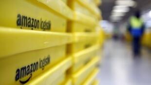 Entrepot logistique d'Amazon à Augzbourg, en Allemagne.