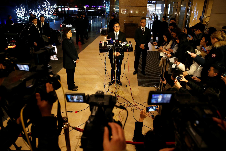 香港警務處處長鄧炳強2019年12月在北京接受採訪資料圖片