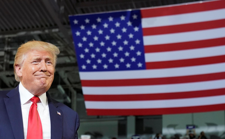 O presidente dos EUA, Donald Trump, realiza um comício de campanha em Greenville, Carolina do Norte, em 17 de julho de 2019.