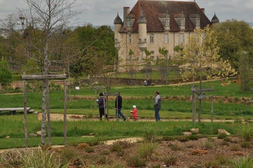 O jardim sonoro de La Boirie abre a cada ano de abril a setembro.