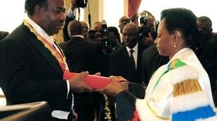 Ali Bongo akiapa kuiongoza Gabon