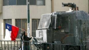 Los estudiantes protestaron en varias ciudades chilenas como Valparaíso,  el 18 de agosto de 2011.