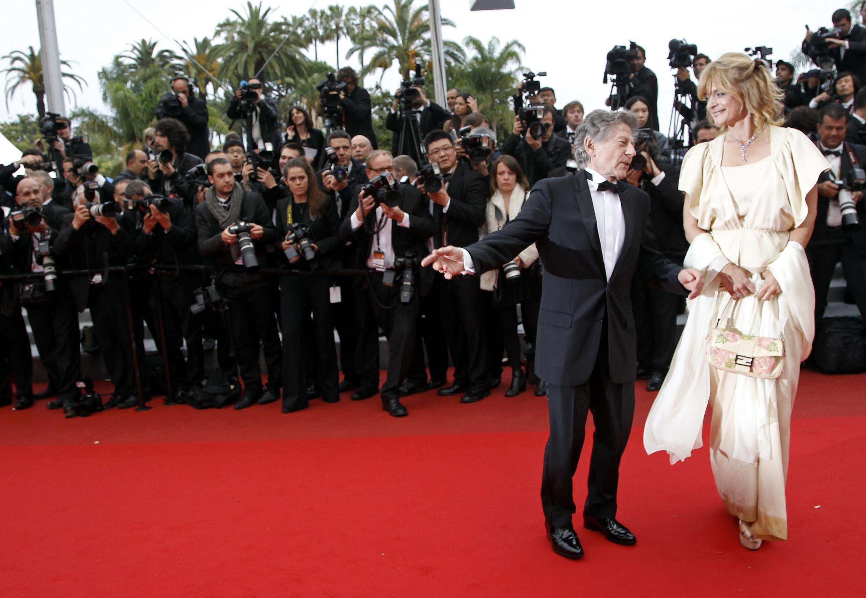 Director Roman Polanski (L) and actress Nastassja Kinski at Cannes last year