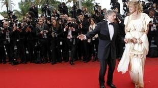 Director Roman Polanski (L) and actress Nastassja Kinski at Cannes last year