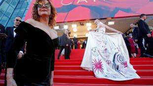 Cérémonie d'ouverture du 70e festival de Cannes- Les arrivées sur le tapis rouge. Cannes, France, le 17/05/2017