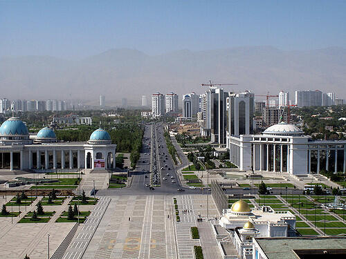 Asjabad, capital de Turkemenistán, el 2 de septiembre de 2009.