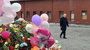 Президент России Владимир Путин прибыл в Кемерово 27 марта