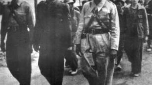 Miembros de las Brigadas Internacionales durante la Guerra Civil española