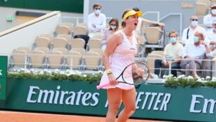 Anastasia Pavlyuchenkova beat her doubles partner Elena Rybakina to advance to the semi-final in the women's singles at the French Open. She will take on Tamara Zidansek.