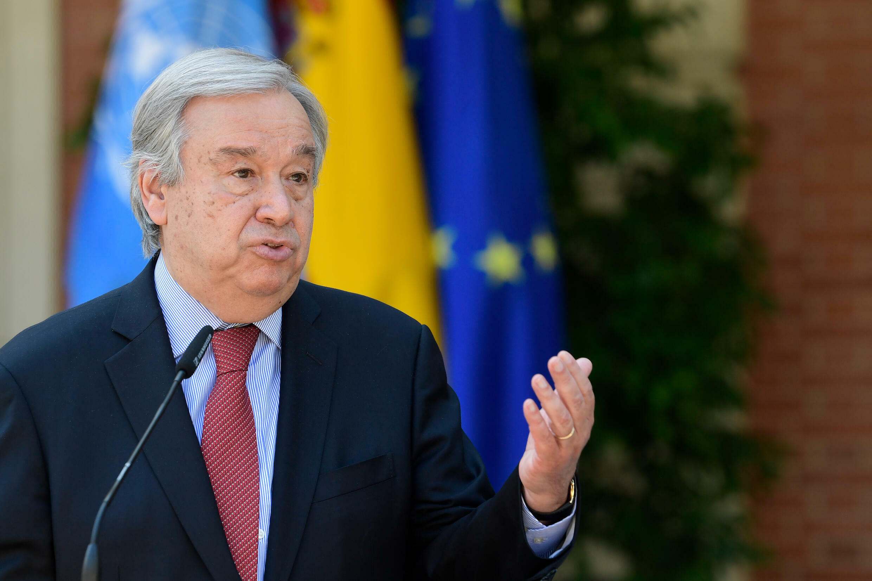 El secretario general de la ONU, Antonio Guterres en Madrid, España, el 2 de julio de 2021
