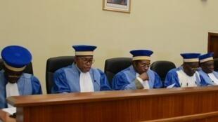 Audience à la Cour constitutionnelle de RDC en octobre 2015.
