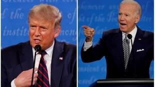 Rais wa Marekani Donald Trump (kushoto) na Joe Biden.