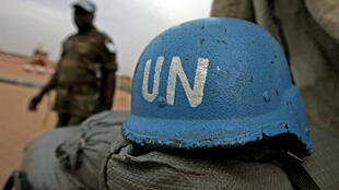 Nigerian soldier serving with the United Nations-African Union Mission in Darfur (UNAMID)