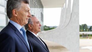 O presidente argentino, Mauricio Macri, foi recebido pelo presidente Michel Temer no Palácio do Planalto em Brasília- DF, 07/02/17.