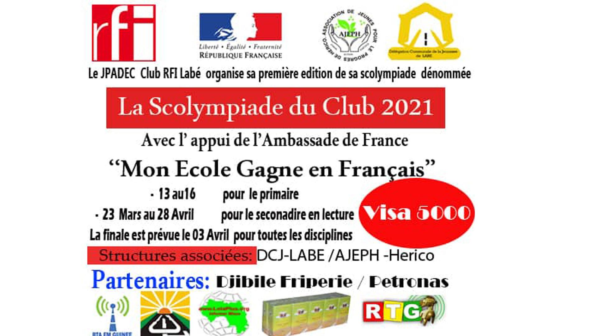 Club Rfi Labé - affiche évènement - La Scolympiade du Club 2021