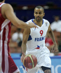 Tony Parker, auteur de 28 points face à la Turquie.